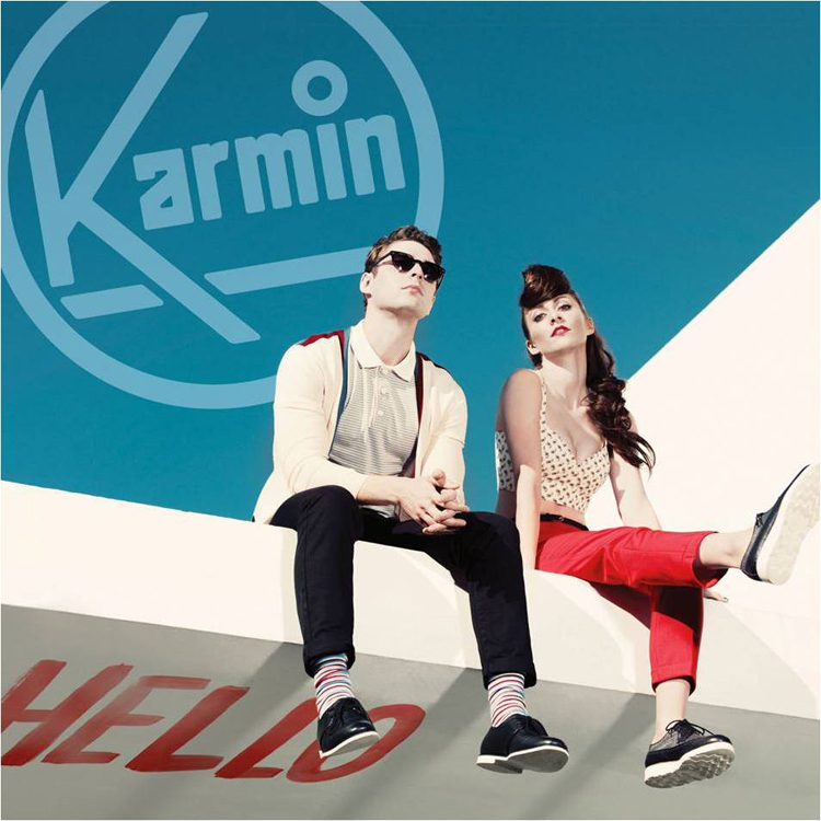 "Cover art for Karmin's debut album, ""Hello"" - photo courtesy Epic Records"