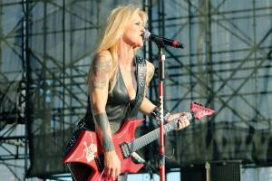 Lita Ford at Darling's Waterfront Pavilion in 2012.