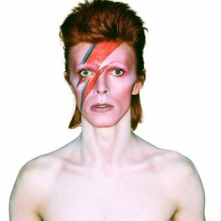 "One of the cover art outtakes of David Bowie for the 1973 album ""Aladdin Sane,"" which was part of the ""David Bowie Is"" exhibition that traveled to Chicago's Museum of Contemporary Art in 2014. (Photo courtesy of Duffy Archive via David Bowie Archive/Chris Duffy)"