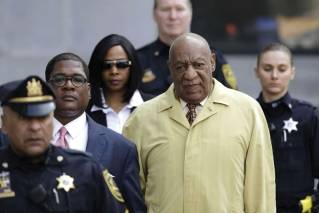 In this Monday, Feb. 27, 2017, file photo, Bill Cosby arrives for a pretrial hearing in his sexual assault case at the Montgomery County Courthouse in Norristown, Pa. The next battleground in the criminal case against Cosby will be whether prosecutors can use his lurid deposition testimony about giving pills and alcohol to a string of women before sex, material that may be disallowed at his trial since the judge ruled most of the women themselves can't testify. The case is set for trial June 5 in suburban Philadelphia.