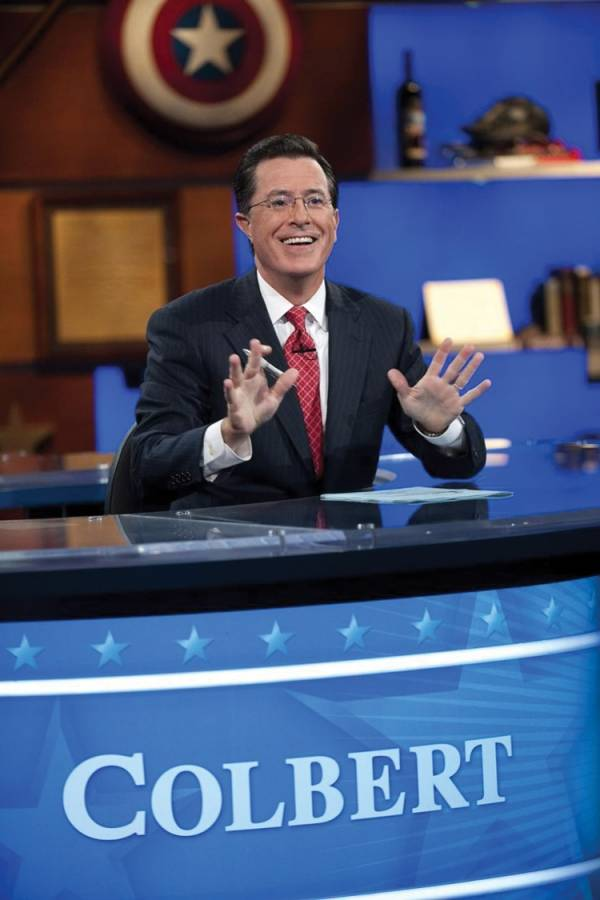 As Colbert exits, say farewell to his proxy