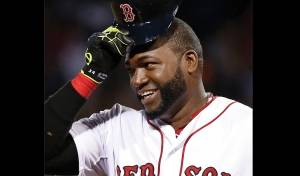 Boston Red Sox designated hitter David Ortiz tips his cap during a game at Fenway Park in Boston. Big Papi announced he was retiring after the close of the 2016 season.