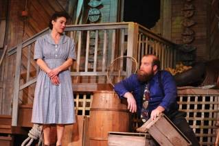 "River Lombardi, left, and Ryan Jackson star in Everyman Repertory Theatre's production of ""Talley's Folly."""