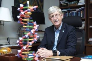 National Institutes of Health (NIH) Director Francis Collins poses for a portrait at the NIH headquarters in Bethesda, Md., Friday, July 28, 2017. After DNA testing showed he was predisposed to Type 2 diabetes, which is more likely to develop if a person is overweight or obese, Collins shed 35 pounds (16 kilograms).