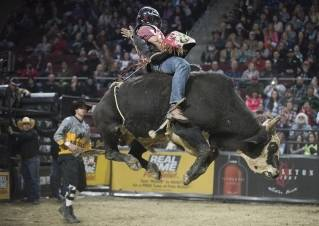 Images from the Professional Bull Riders tour at the Cross Insurance Center