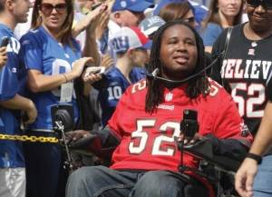 Paralyzed college football player Eric LeGrand amazes and inspires