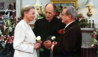 "In this production photo, the characters of Bonnie Bartlett  and William Daniels marry in the show ""Boy Meets World."" In real life, they were married well before in 1951."