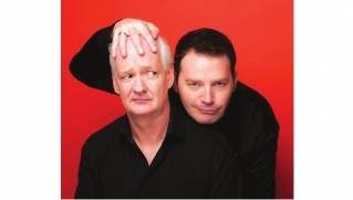 "Brad Sherwood (seen here with Colin Mochrie) is back for a 14th season of ""Whose Line is it Anyway,"" airing Mondays at 9:00 pm on the CW network."