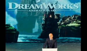 In this 2014, file photo, Jeffrey Katzenberg, CEO of DreamWorks Animation, speaks at the kickoff ceremony of Shanghai DreamCenter in Shanghai. Comcast is buying DreamWorks Animation, the film company behind the Shrek, Madagascar and Kung Fu Panda franchises, for approximately $3.55 billion, the companies announced Thursday. DreamWorks will become part of the Universal Filmed Entertainment Group, which includes Universal Pictures. Once the deal closes, Katzenberg will become chairman of DreamWorks New Media. He'll also serve as a consultant to NBCUniversal, a unit of Comcast Corp. (AP file photo)