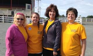 pictured left to right: Carrie Bishop, assistant branch manager, Bangor Exchange St; Taylor Black, branch manager, Orono; Nancy Cobb, customer sales and service consultant, Orono; and Lisa Gallant, branch manager, Old Town