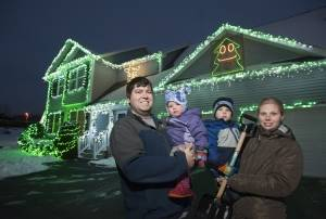 Holiday lights brighten Bangor neighborhood and hospital's NICU
