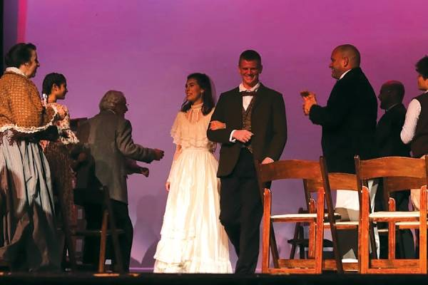 "The wedding scene in The Grand's production of Thornton Wilder's ""Our Town."""