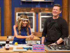 "La Toya Jackson (seen here with host Tyler Florence) is part of season 13 of the Food Network's ""Worst Cooks in America: Celebrity Edition."" New episodes, airing Sundays at 9 pm, feature the contestants vying for bragging rights and a $25,000 jackpot for their charity of choice."