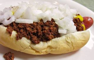 A 'Flint-Style' Coney from Rio's Coney Island in Flint, MI