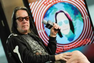 "Musician Todd Rundgren participates in AOL's BUILD Speaker Series to discuss his new album ""Global"" at AOL Studios on Wednesday, May 6, 2015, in New York."