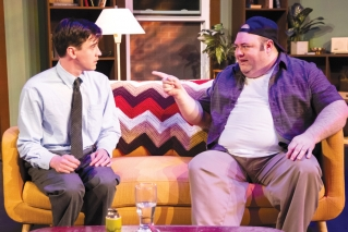 "Tyler Costigan (left) and Tellis Coolong star as Felix and Oscar, the titular pairing in Truen North Theatre's production of Neil Simon's ""The Odd Couple."""