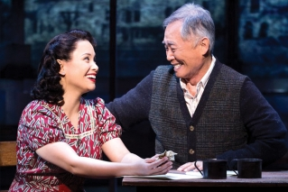 "Lea Salonga and George Takei in a scene from the Broadway musical ""Allegiance."" The musical is based on Takei's real-life story of being forced into an internment camp for Japanese Americans with his parents and siblings following Japan's attack on Pearl Harbor in 1941. Before closing on Broadway, ""Allegiance"" was filmed for theatrical release and is being prepared now for release on DVD and Blu-ray. Takei says it has become his life's mission to raise awareness of what happened to Japanese Americans in order to prevent history from repeating itself."
