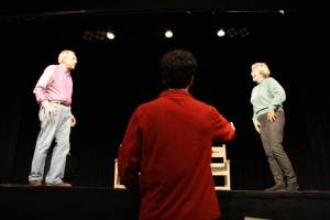 "Opera House Arts will present ""Locally & Organically Grown: 7 Short New Plays by 7 Local Playwrights"" August 31-September 1 at the Stonington Opera House, directed by Maine playwright John Cariani, shown here directing in 2011, and Judith Jerome."