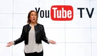 In this Tuesday, Feb. 28, 2017, file photo, YouTube CEO Susan Wojicki speaks during the introduction of YouTube TV at YouTube Space LA in Los Angeles. Google's online package of about 40 television channels debuts on Wednesday, April 5, 2017, in the tech industry's latest bid to get cable-shunning millennials to pay for television.