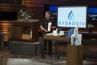 "Dr. Eric Roy, a Maine native and graduate of Colby College and the University of Maine, pitches his water filter company Hydroviv on the ABC show ""Shark Tank."" Roy's episode airs on Sunday, April 14 at 10 p.m."