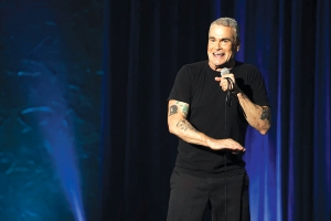 "Henry Rollins in a scene from his Showtime special ""Keep Talking, Pal."""