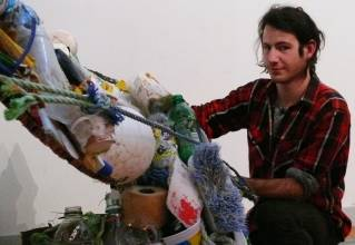 College of the Atlantic student creates art from trash