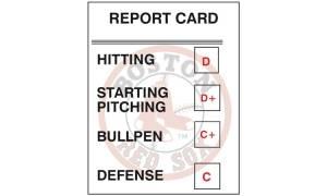 Red Sox Report Card – 2014 Postmortem