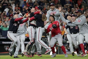 The Washington Nationals - seen here celebrating their World Series victory - were NOT who I predicted to win. Just one of the year's many misses.
