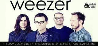 Weezer to perform at Maine State Pier