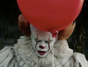 Pennywise, pound terrifying – 'IT'