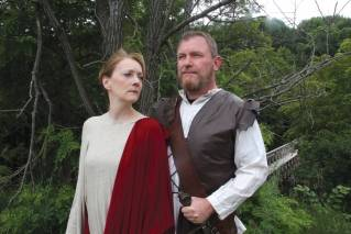 "Deb Elz-Hammond is Lady Macbeth and Barrett Hammond is Macbeth in Ten Bucks Theatre Company's production of ""Macbeth."""
