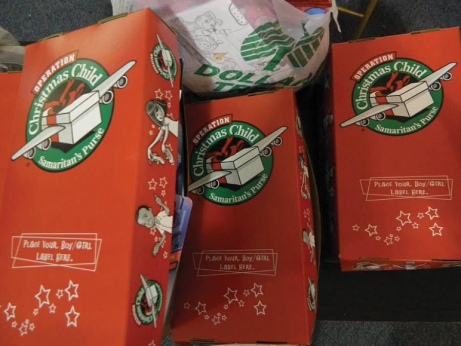 Christmas Child Boxes.Area Moms Pack Gifts For Operation Christmas Child Press