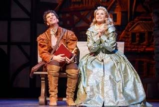 "John Cariani and Kate Reinders in ""Something Rotten!"""