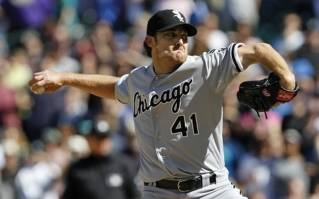 Chicago White Sox starting pitcher Phil Humber.