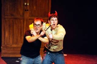 Daniel Clarkson and Jeff Turner in 'Potted Potter'
