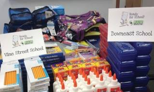 Pulse Marketing Agency donates school supplies to Vine Street and Downeast Schools of Bangor