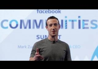 Facebook CEO Mark Zuckerberg speaks at the Facebook Communities Summit in Chicago in advance of an announcement of a new Facebook initiative designed to spur people to form more meaningful communities with Facebook's groups feature.