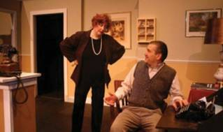 Julie Lisnet and Ron Lisnet as Sybil and Basil Fawlty. (photo courtesy of Ten Bucks Theatre Company)