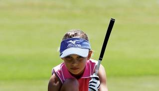 Young championship player during Masters Week in PGA. (photo courtesy of Drive, Chip and Putt/Robert DeAngelo)