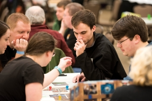 Intense gaming action from last year's SnowCon X.