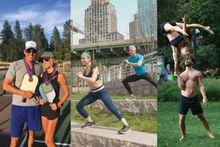 Fit couples share tips on working out together